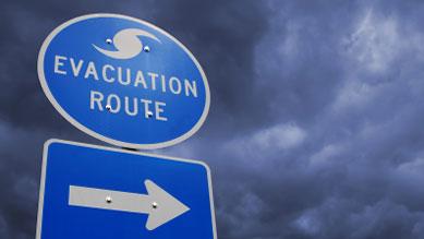 Wetter - Hurrikan Fluchtweg