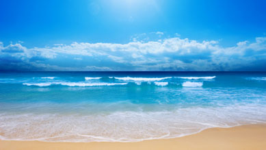 Gutes Wetter am Strand